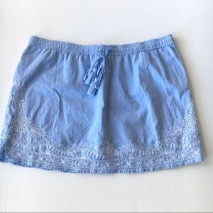 Vineyard Vines Embroidered Shell Flower Skirt SZ M